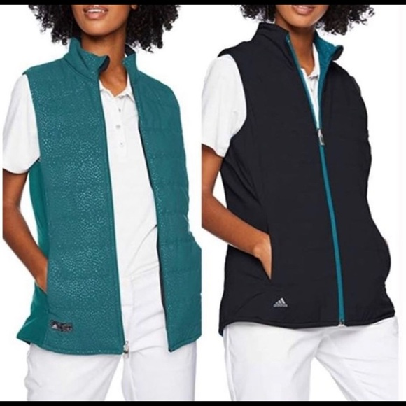 ADIDAS GOLF QUILTED REVERSIBLE LIGHT WEIGHT VEST